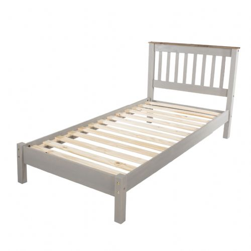Premium Corona Grey Wash Slatted LFE Bed